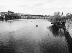 Charles Bridge From Legion Bridge (holtelars) Tags: blackandwhite bw 120 film monochrome rollei analog mediumformat river 645 prague pentax praha czechrepublic analogue 6x45 charlesbridge vltava f28 45mm czechia karlvmost 100iso pentax645 filmphotography rodinalspecial classicblackwhite 645n rpx homeprocessing filmforever smcpentaxfa r09spezial rpx100 rolleirpx100 larsholte compardr09spezial