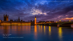 Twilight in London (Justin S Reid) Tags: street city uk travel bridge blue sunset england sky urban building london water westminster thames architecture night clouds river george nikon cityscape bigben 500px ifttt papapostolou gpapapostolou dierjscreensaver