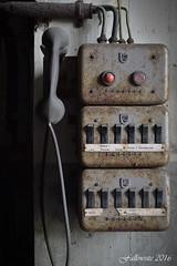 Cyclonkessel (D). Abonns abscons. (Fallowsite) Tags: old nikon decay telephone machine rusty urbanexploration machines hdr decayed usine abandonned vieille turbines ancienne oldplace urbex d610 friche lostplace abandonne samyang explorationurbaine fricheindustrielle centralethermique desaffecte forgottenplace decrpitude contacteurs lieuxoublis cyclonkessel etablissementindustriel passerrelles