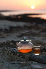 evening tea time with sunset (asri.) Tags: drink outdoor teatime foodphotography 2016 85mmf14 foodstyling
