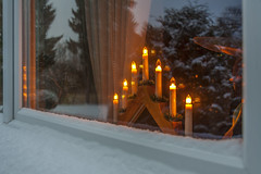 Winter Wndow (AudioClassic) Tags: christmas winter light house snow cold tree home nature glass reflections season evening nopeople holydays wndow electriccandles sprucetreebranch