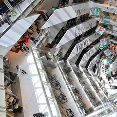 Myer Melbourne floor levels look great from the top floor #architecture #retail