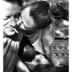love (eva grieco) Tags: summer vacation blackandwhite italy woman white man black love beautiful kiss kissing together toscana amore holydays