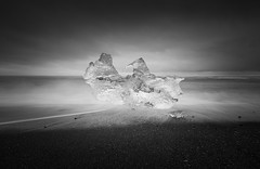 Fragment (vulture labs) Tags: ice water clouds iceland sand lagoon volcanic jokulsarlon fragment vulturelabs