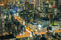 Density (skweeky ) Tags: world from above street colors japan night tokyo long exposure view center trade nuit japon density