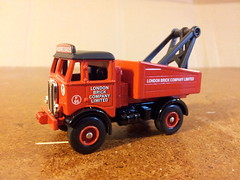 AEC Recovery Truck Model. (LBCSteve) Tags: red black brick london truck recovery aec