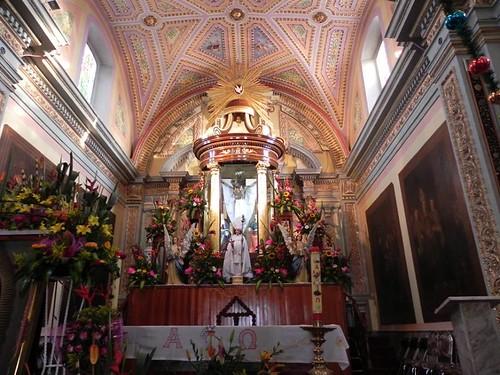 Altar Mayor, Parroquia de Santo Toribio Xicohtzingo, Tlaxcala.