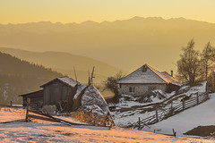 Ortsevo Village (DobriMv) Tags: winter sunset house mountain snow nature landscape warm europe village outdoor ridge bulgaria balkans eastern   rhodope   ortsevo