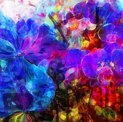 Impressions of Summer Orchids (virtually_supine popping in and out) Tags: painterly photomanipulation effects orchids bright mosaic creative vividcolour textures layers abstraction impressionist digitalartwork paintnet fauvism picasa3 photoshopelements9 tmichallengeinthestyleoffauvism kreativepeoplechallengetreatthis114 sourceimagesbybrillianthues paintnet~polarinversionoilpainting picasa3~orton pse9~angledstrokes