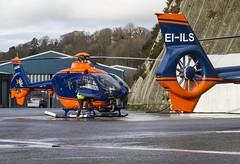 G-GLAA & EI-ILS PDG Helicopters / General Lighthouse Authorities EC135T2+ @ Castle Air Charters Ltd, Liskeard, Cornwall. (Cornish Aviation) Tags: lighthouse house castle cornwall general air helicopter trinity helicopters ltd eurocopter heliport ec135 authorities charters pdg liskeard trebrown ec135t2 eiils horningtops gglaa