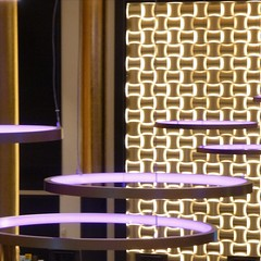 Hotel Reception Lighting Detail (unclebobjim) Tags: abstract colour oslo norway circle lights hotel opera neon patterns lilac reality backdrop suspended woven thon quadrado receptionarea oslocentralstation squareplace quadratum thonoperahotel