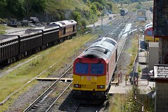 A trio of 60's at Peak Forest, 60001,60045 & 60062, 19th Aug 2014. (Dave Wragg) Tags: railway loco locomotive ews class60 peakforest 60062 60001 dbschenker 60045