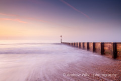 Boscombe sunrise (Andrew H-W) Tags: uk winter sea color colour water sunrise season waves time object tripod hard structures places lee dorset nd gran filters 06 groyne graduated boscombe 2016 neutraldensity objectsstructures andrewhaywardwills