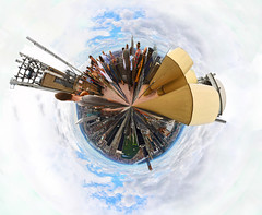 Polar Panorama from the Top of the Rock (Anatoleya) Tags: city nyc urban newyork manhattan planet hdr topoftherock spherical rockefellerrockefeller anatoleya plazacentreview360polarpanoramalittle