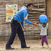 UNPOL offers games for children in POC site