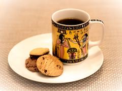 366-32 - coffee & biccies (Ruth_W) Tags: food coffee drink biscuit mug 365 fms