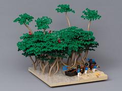 Mangrove (Jonas Wide ('Gideon')) Tags: water landscape lego mangrove bobs bluecoats challengei oleon brethrenofthebrickseas
