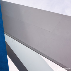 Spinnaker Abstract (stewartl2010) Tags: uk blue england abstract lines triangles unitedkingdom hampshire gb portsmouth spinnakertower minimalism simple minimalist gunwharfquays nikfilters colorefexpro4