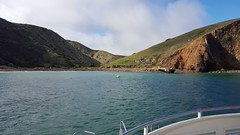 Pulling into the harbor at Scorpion Ranch on Santa Cruz Island