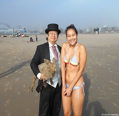 Dr. Takeshi Yamada and Seara (Coney Island Sea Rabbit) at the winter swimming event by the Coney Island Polar Bear Club at the Coney Island Beach in Brooklyn, New York on January 10 (Sun), 2015.  mermaid.  20160110Sun DSCN3331=2015pC1. Ikkyuu (searabbits23) Tags: winter ny newyork sexy celebrity art beach fashion animal brooklyn asian coneyisland japanese star yahoo costume tv google king artist dragon god cosplay manhattan wildlife famous gothic goth performance pop taxidermy cnn tuxedo bikini tophat unitednations playboy entertainer samurai genius donaldtrump mermaid amc mardigras salvadordali billclinton hillaryclinton billgates aol vangogh curiosities bing sideshow jeffkoons globalwarming takashimurakami pablopicasso steampunk damienhirst cryptozoology freakshow barackobama polarbearclub seara immortalized takeshiyamada museumofworldwonders roguetaxidermy searabbit ladygaga climategate