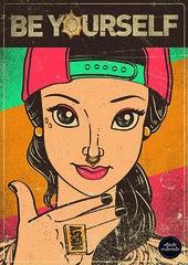 Illustration Eliúde Valverde (Eliúde Valverde) Tags: bear brazil art ariel bike rock illustration work skull design punk princess zombie jasmine humor bart gang culture jazz disney popart aurora skate batman 2pac missy belle radical thesimpsons cinderella tiana popculture mariobros snowwhite rapunzel rapper artes ilustração gospel pocahontas woodywoodpecker ilustrador mulan beyonce starwar qix valverde girlgang rihanna rootsculture musicpop cedricbrooks eliude eliudevalverde