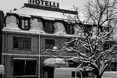 Iisalmi (Tuomo Lindfors) Tags: winter snow tree suomi finland hotel dxo lumi talvi puu iisalmi hotelli seurahuone filmpack theacademytreealley