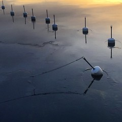 Sunset Ice (David Abresparr) Tags: winter ice is vinter stockholm saltsjbaden