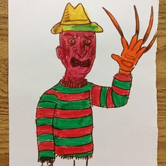 Kids coloring time, horror style (the ghost in you) Tags: jason halloween kids pumpkin jackolantern leatherface jaws coloring horror freddy fridaythe13th childsplay coloringbook freddykrueger chucky stevenspielberg texaschainsawmassacre wescraven michaelmyers chuckydoll jasonvorhees goodguydoll