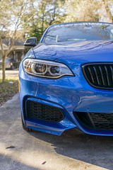 2016 BMW M235iSC6965 (pdebree) Tags: auto blue light car automobile fast front grill bmw headlight bluecar bimmer mpower m235i reevesbmw reevestampa