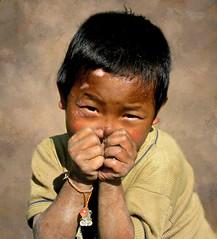 Hill Miri boy (Linda DV (back and catching up)) Tags: travel india canon geotagged village culture tribe 2008 discovery worldtravel arunachalpradesh powershots5is exploretheworld lindadevolder