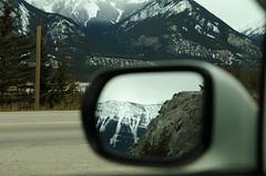 Backview (leema089) Tags: canada mountains reflection rockies mirror jasper driving alberta rockymountains snowcappedmountains