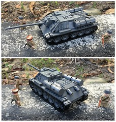 WW2 Soviet Tank Destroyer SU-85 (Lego Admiral) Tags: tank lego wwii destroyer soviet ww2 russian ussr easternfront