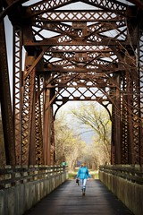 Katy Trail Bridge (Notley) Tags: bridge architecture clouds rural march outdoor trail missouri callawaycounty katytrail middlecreek 2016 10thavenue notley tebbettsmissouri notleyhawkins missouriphotography httpwwwnotleyhawkinscom notleyhawkinsphotography middleriverrailroadbridge