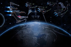 X Wing Assault 2 (The World Through My Lense) Tags: photoshop stars toy starwars space darth hotwheels jedi planet stormtrooper xwing vader darthvader fx sith deathstar specialeffects toyphotography jediphotographer
