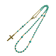 TURQUOISE STONE Rosary Necklace (Black Boudoir {by Caine Kindred}) Tags: blue fashion modern gold design necklace beads catholic cross handmade stones turquoise religion style jewelry jewellery rosary handcrafted bohemian readytowear naturalstone handmadejewelry bohochic handmadenecklace stonejewelry rosarynecklace blackboudoir cainekindred madeinsg 2016design