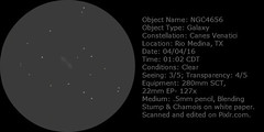 NGC4656 (John SA-TX) Tags: sketch galaxy canes astronomy venatici ngc4656
