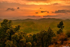 'Sunsets are so beautiful that they almost seem as if we were looking through the gates of Heaven'- John Lubbock (Sougata2013) Tags: sunset sky india mountain clouds landscape hill valley mandi himachalpradesh shikaridevi nikond7200 janjhelivalley