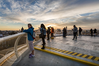 Seville Jan 2016 (5) 775  - Around and about the Metropol Parasol in Plaza de la Encarnacion at the other end of the day this time - waiting for the sunset