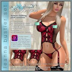 LEANNA-BUSTIER-SET-RED (Indigoblue Dagostino) Tags: fashion knickers bra lingerie corset suspenders basque vintagelingerie