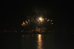 fireworks (jorwudi) Tags: city sea summer water fire lights fireworks august reflexes