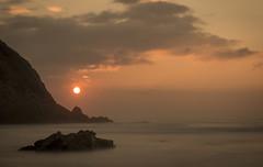 Basque Coast (Alexander Urdiales) Tags: ocean sunset sea costa water mar seaside waves silk shore olas euskadi basquecountry oceano paísvasco sopelana basquecoast ndfilter costavasca