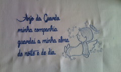 Almofada (leonilde_bernardes) Tags: portugal embroidery sintra bebe bordado anjodaguarda oraçao enxoval