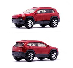 Matchbox - Jeep Cherokee Trailhawk (Leap Kye) Tags: family red color detail macro car wheel closeup modern toy model automobile jeep offroad 4x4 rear transport machine 4wd tire front chrome american 164 vehicle sidemirror cherokee suv awd matchbox jeepcherokee compact crossover diecast 2016 midsize trailhawk objectonwhite armedclown309