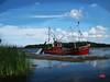 Better Days IMG_0900 (Mike Pesseackey (UAGUY1)) Tags: boats lakes blue cloudsandsky art florida parkerflorida martinlake home digitalart digitalartrealism photoshop shrimpboats scenic wallart water canon