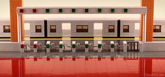 Train Ticket Gate - Close (kosbrick) Tags: station train subway gate lego ticket moc npu paintroller ironbuilder