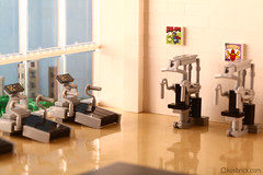 Gym (kosbrick) Tags: lego equipment workout gym moc npu paintroller ironbuilder