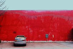 red wall (peterpe1) Tags: rot mercedes flickr redwall ruhrgebiet pse mauer wanneeickel ruhrpott peterpe1