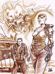 MAD MAX FURY DRAW - Giuliano Piccinnino (Sugarpulp) Tags: comics tribute fumetti madmax illustrazione sugarcon sugarpulp sugarpulpconvention