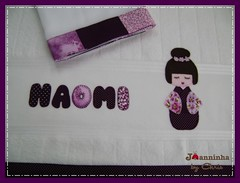 Imagem 062 (Joanninha by Chris) Tags: baby handmade artesanato beb kokeshi bordado feitoamo toalhafralda toalhadebanho enxovalmenina enxovalbeb aplicaodetecidos