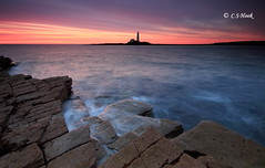 St Mary`s From Old Hartley (carmellestewarthook) Tags: lighthouse seascape sunrise lee hook 70d